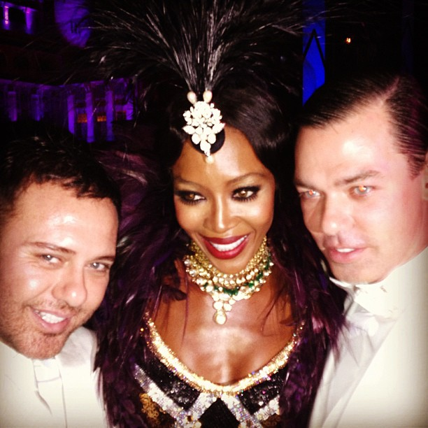 Naomi Campbell's 'desi' style party