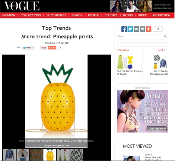 Pineapple, trend, fashion