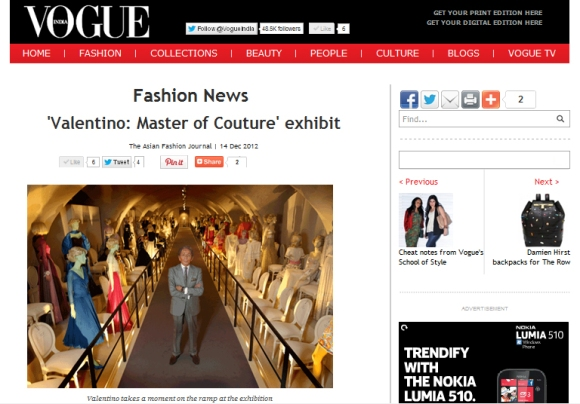 vogue india valentino screen shot