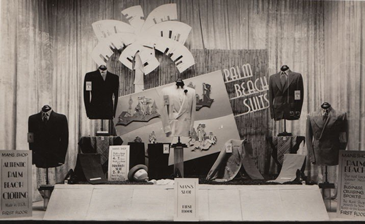 1950's window with Palm Beach suits