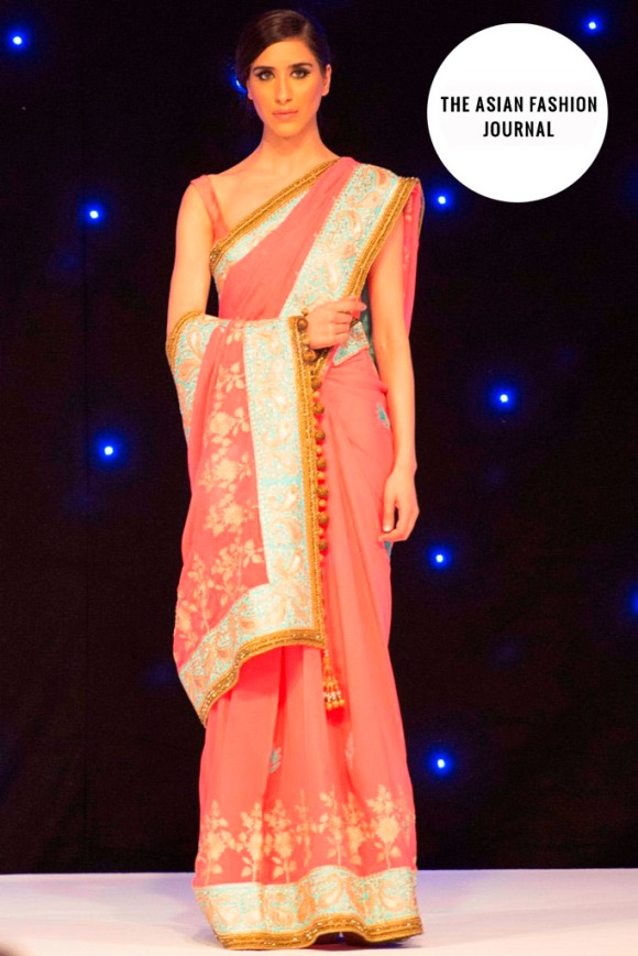 D Manish Malhotra sari that was auctioned at the event and sold for £5000