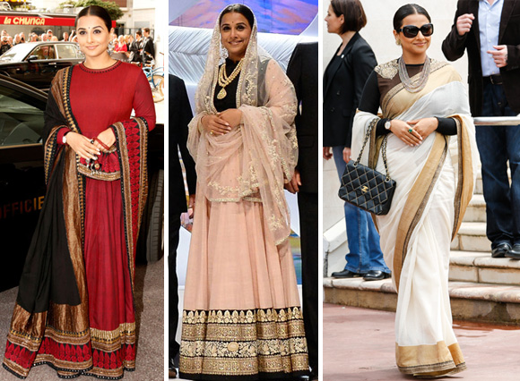 Improvement of Vidya Balan's Canne Arrival In Indian Looks
