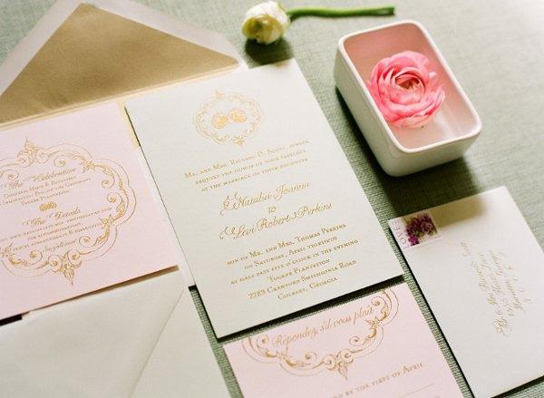 Blush And Ivory Wedding Invitations: Wedding Weds: Blush & Gold