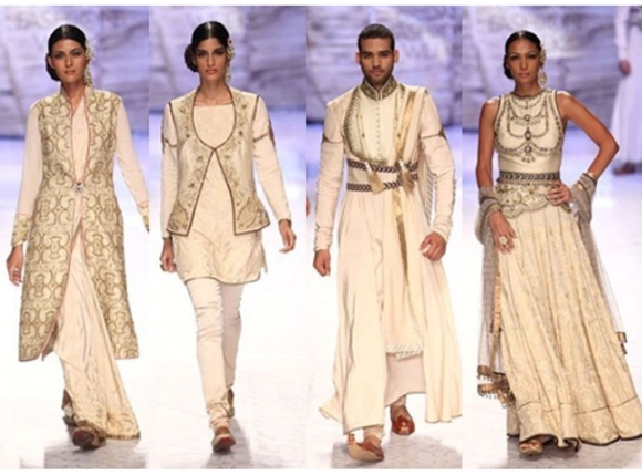 JJ Valaya, IBFW, 2013, India Bridal Fashion Week, bride, India, Couture, Bridal, White, Sari, Lengha, Kabir Bedi, Kangana Ranaut, fashion, Maharajas, Maharanis