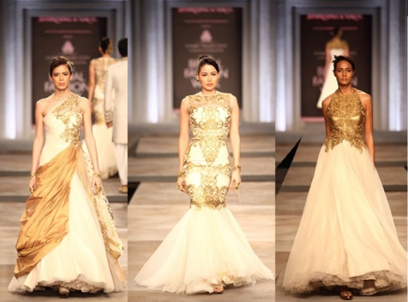 Shantanu & Nikhil, India Bridal Fashion week, 2013, IFBW, white, gold, sari, lenghas, bridal, bride, india, fashion