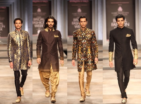 Shantanu & Nikhil, India Bridal Fashion week, 2013, IBFW, white, gold, sari, lenghas, bridal, bride, india, fashion, menswear, groom, sherwani,