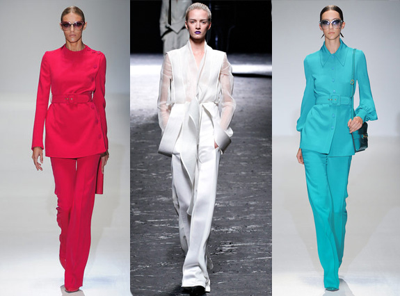Gucci, Haider Ackermaan, colour block suits, s/s 13 fashion trends,