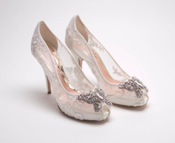 aruna, seth, farfalla, ivory, tulle,wedding, reception, bride, shoes