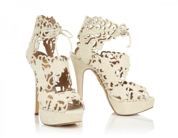 charlotte olympia, bride, heels, sandals, belinda, wedding, reception