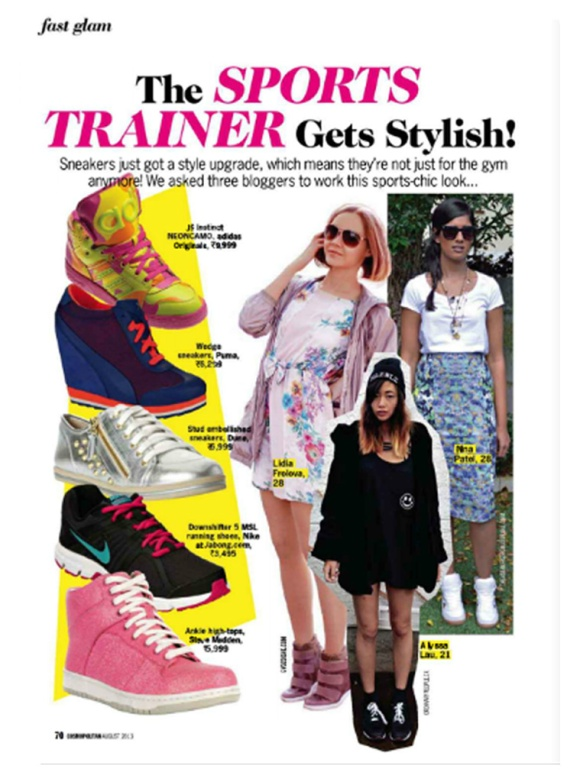 Cosmopolitan, India, Trainer, sneaker, trend, anushka sharma, august, 2013