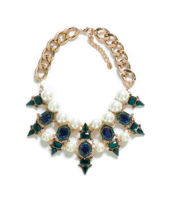 Zara, crystal, flower, necklace, costume jewellery, a/w 13, trend, shopping, india