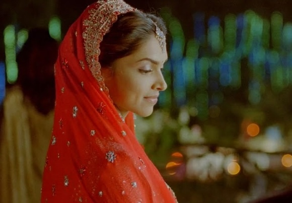 deepika padukone, bride, wedding, reception, updo, hairstyle, love aaj kal
