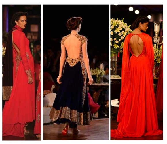 Sexy Back, trend, Fashion, Top 5 trends, PCJ Delhi Couture Fashion Week, India Bridal Fashion Week, Deepika Padukone