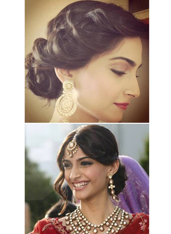 deepika padukone, bride, wedding, reception, updo, hairstyle, love aaj kal, Dia Mirza, Shantanu & Nikhil, Frieda Pinto, Sonam Kapoor, Thank You