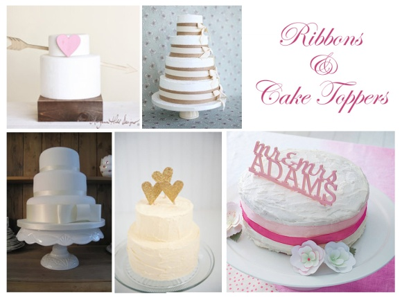 wedding cakes, budget, cheap, d.i.y, decor, toppers, ribbon, receptions, vintage