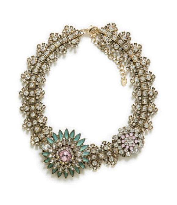 Zara, crystal, flower, necklace, costume jewellery, a/w 13, trend, shopping