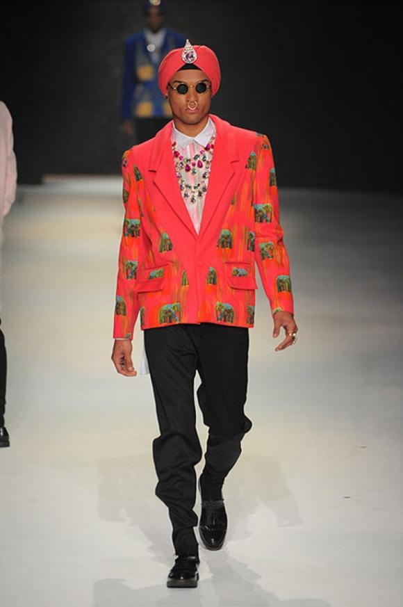 Jeetinder, Sandhu, Menswear, India, Fashion, Prints, Elephants, Tribal, London Fashion Week