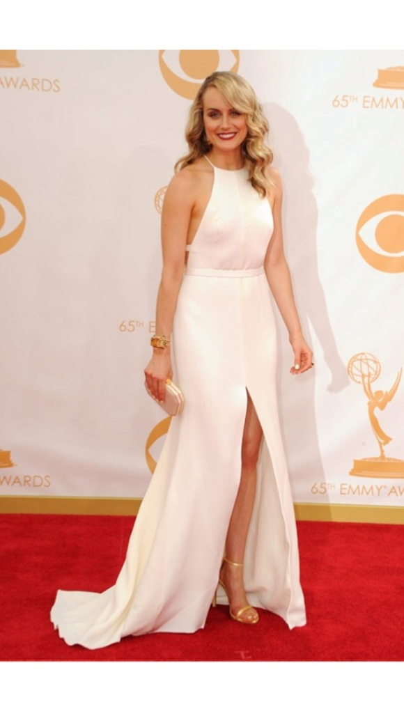 Taylor, Schilling, Thakoon, Emmys, 2013, White, Bride, Bridal, Wedding, Dress