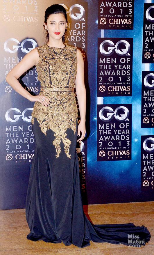 GQ Men of the year awards, 2013, Raghavendra Rathore, Shruti Haasan, India, fashion