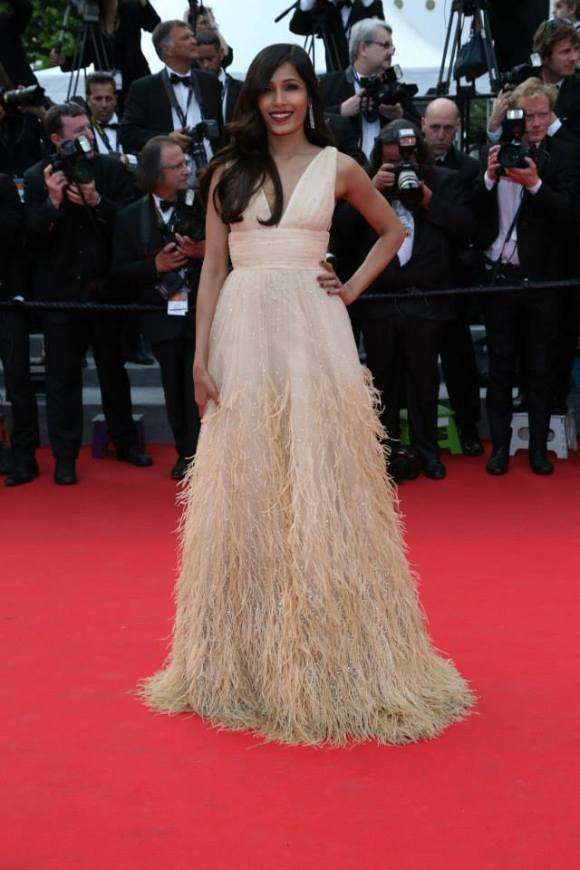 Frieda Pinto @ Cannes 14 via L'Oreal Paris Facebook