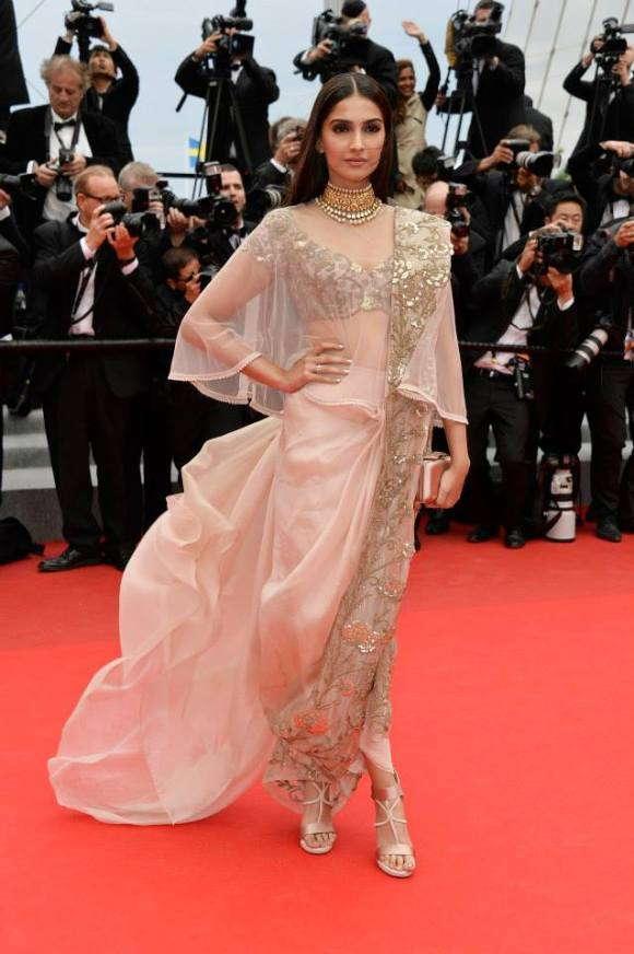 Sonam Kapoor @ Cannes 14 via L'Oreal Paris Facebook