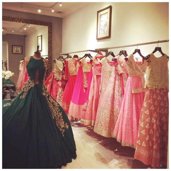 Manish Malhotra gowns and lenghas Aashni & Co