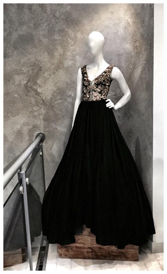 manish malhotra inky black gown
